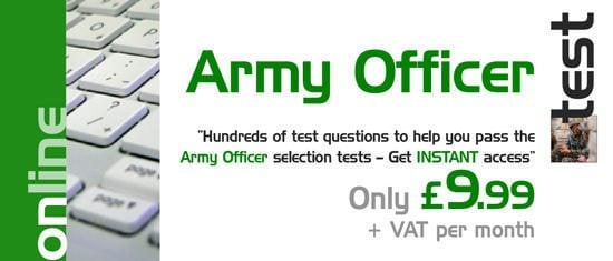Online Army Officer tests - INSTANT Access