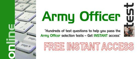 Free 30 Days Access to Army Officer Tests