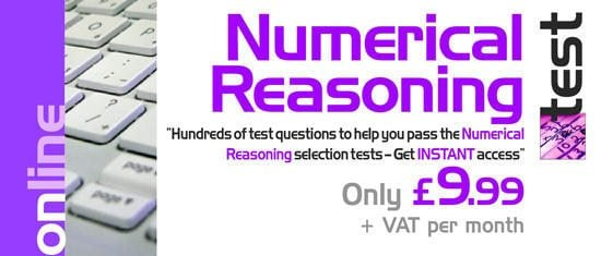 Online Numerical Reasoning Tests