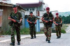 Paras on patrol with the Royal Marines