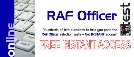 FREE 30 Days Access to RAF Officer Tests!