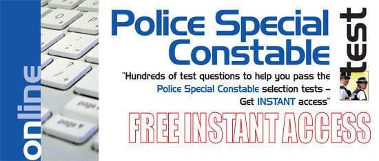 FREE 30 Days Access to Online Special Police Constable Tests!