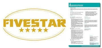 All of our CV's are 5 star rated!