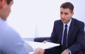 man-during-customer-service-interview