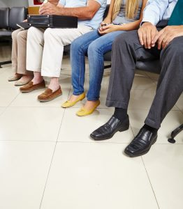 Patients at a Doctors waiting room