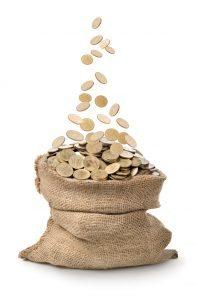Large bag of money