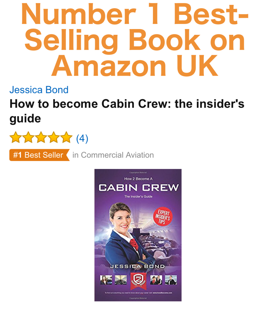 How to Become a Cabin Crew Best Selling Book on Amazon