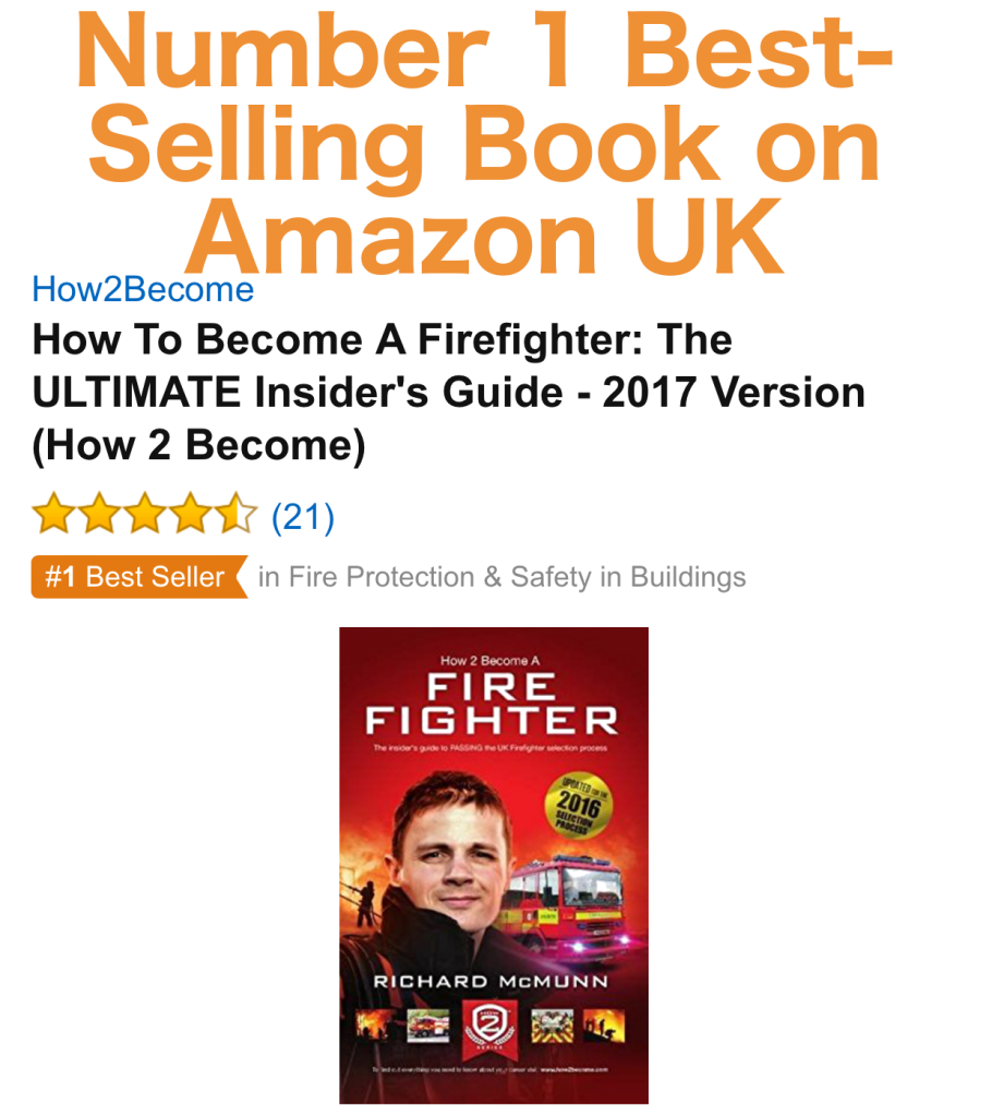 How to Become a Firefighter Best Selling Book on Amazon