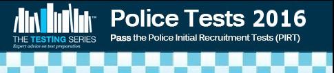 Police Tests 2016 PIRT