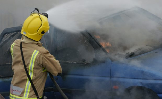 How-to-become-a-firefighter-car-on-fire