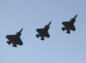 Formation of F-35 Aircraft