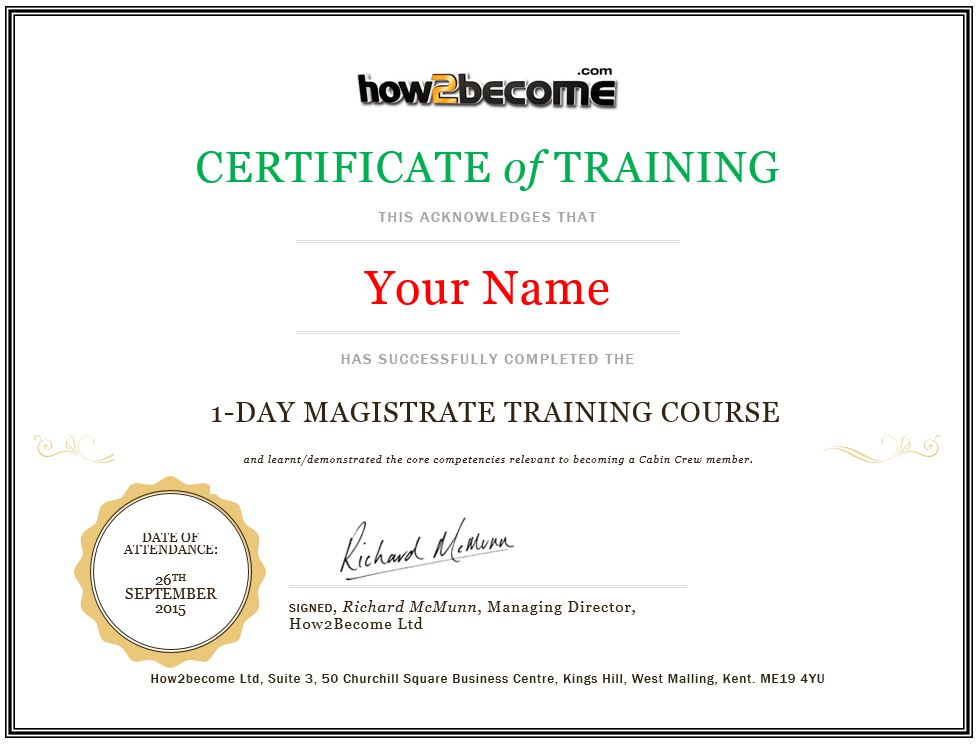 Online Magistrate Training Course  Recruitment Masterclass