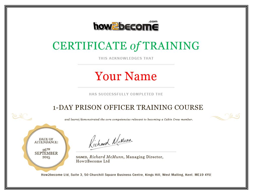 HMPS-Prison-Officer-NOMS-Training-Course-Certificate-How2become