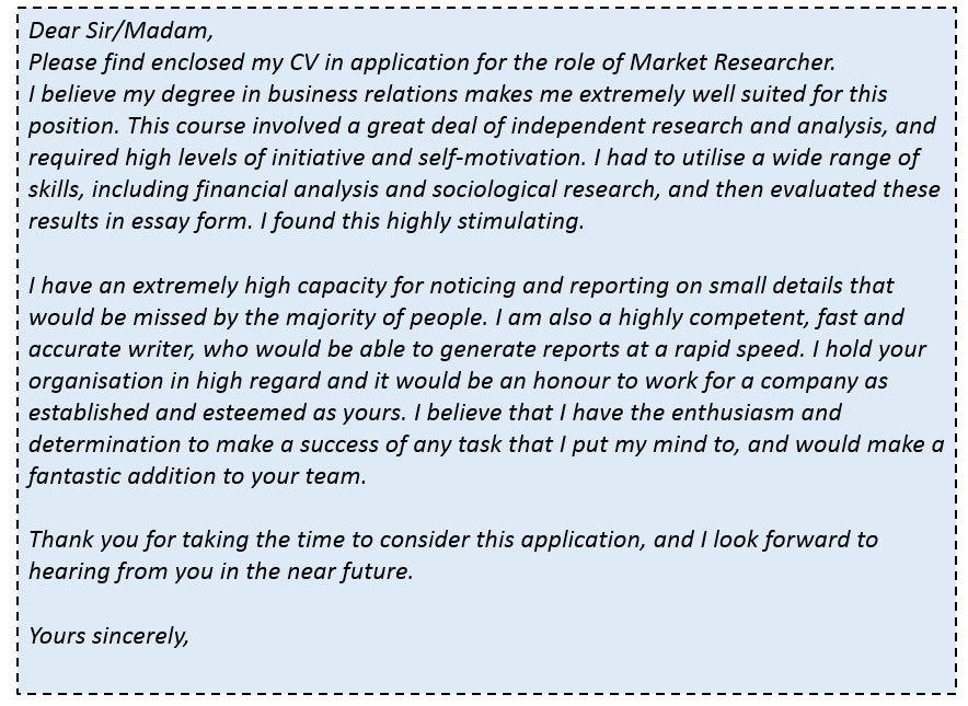 Cover letter research scientist position