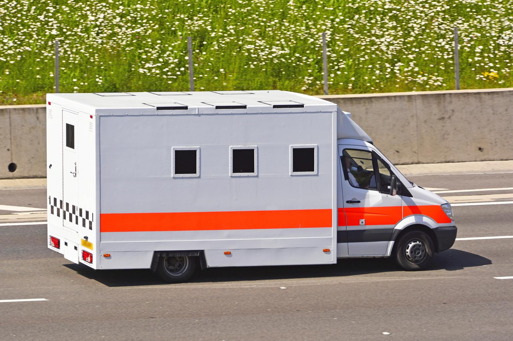 NOMS careers guide prison van