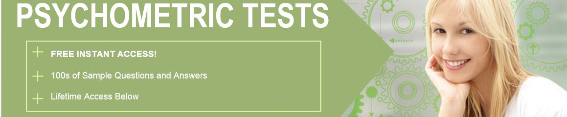 Free Psychometric Tests Instant Access Banner