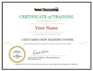 How2become Training Course Cabin Crew Certificate
