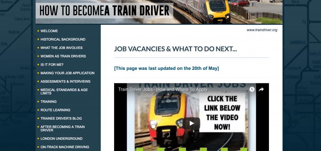 Traindriver.org Job Vancancies Board