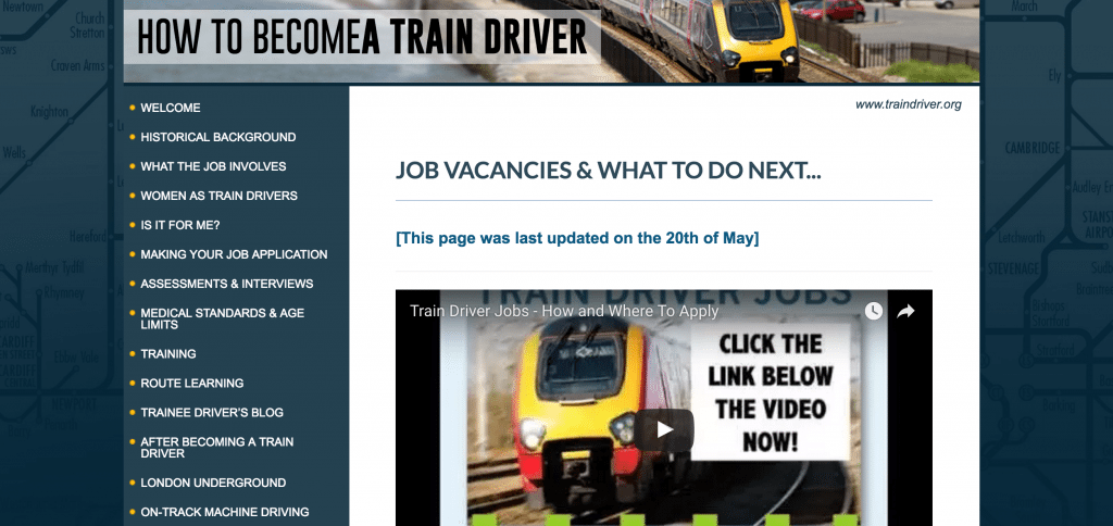 Train Driver Jobs In Just 60 Seconds How To Guide