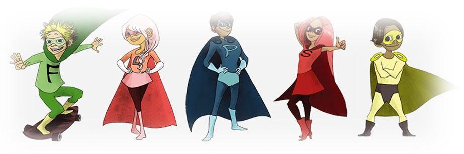 11 plus superheroes