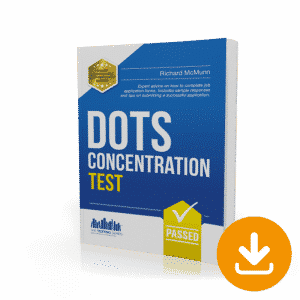 Dots Concentration Tests Workbook - Instant Download