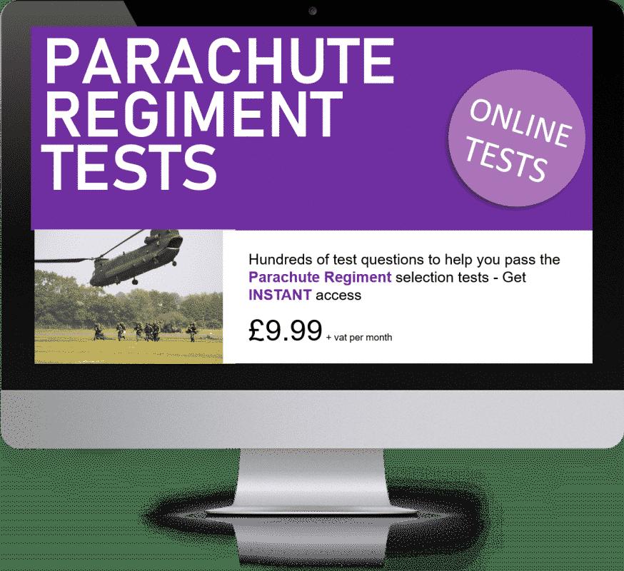 Online Interactive Parachute Regiment Practice Tests