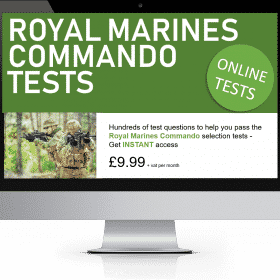 Online Interactive Royal Marines Commando Practice Tests