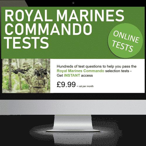 Online Interactive Royal Marines Commando Practice Tests