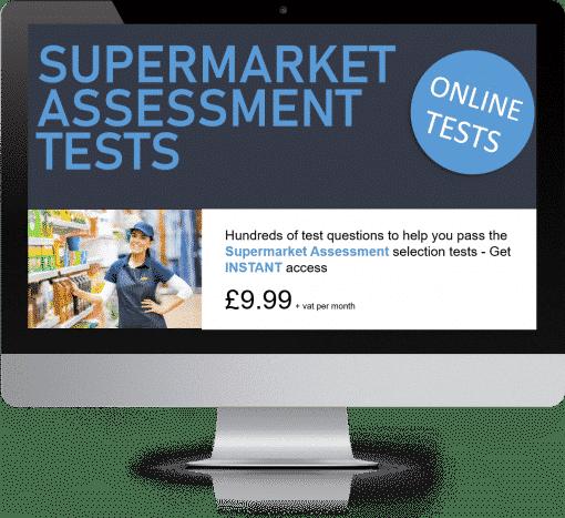Online Interactive Supermarket Assessment Practice Tests