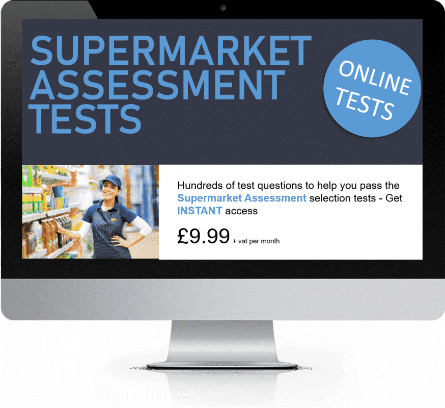 Online Interactive Supermarket Assessment Practice Tests