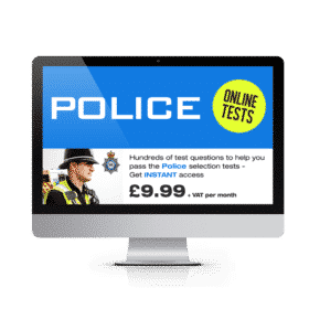 Online Police Officer Testing Suite - £9.99 + vat per month with no minimum term