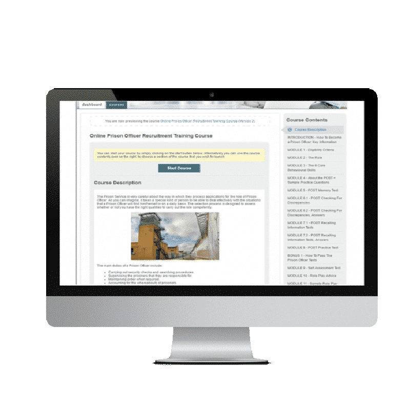 Online Prison Officer Recruitment Training Course - Ultimate Online Resource (UNLIMITED ACCESS)