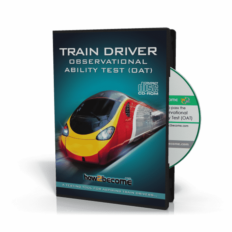 Train Driver Observational Ability Test OAT Software CD-ROM for Trainee Train Drivers