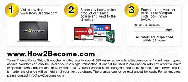 How to redeem a How2Become Voucher