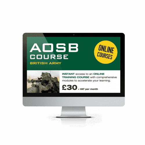 Online Army Officer Course £30.00+ vat per month