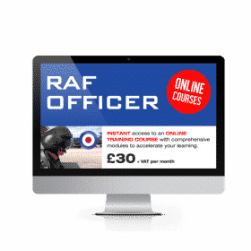 Online RAF Officer Course £30.00 vat per month