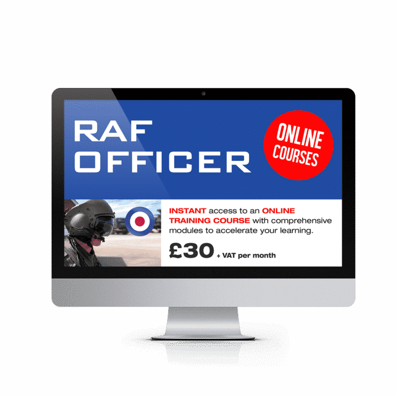 Online RAF Officer Course £30.00 vat per month