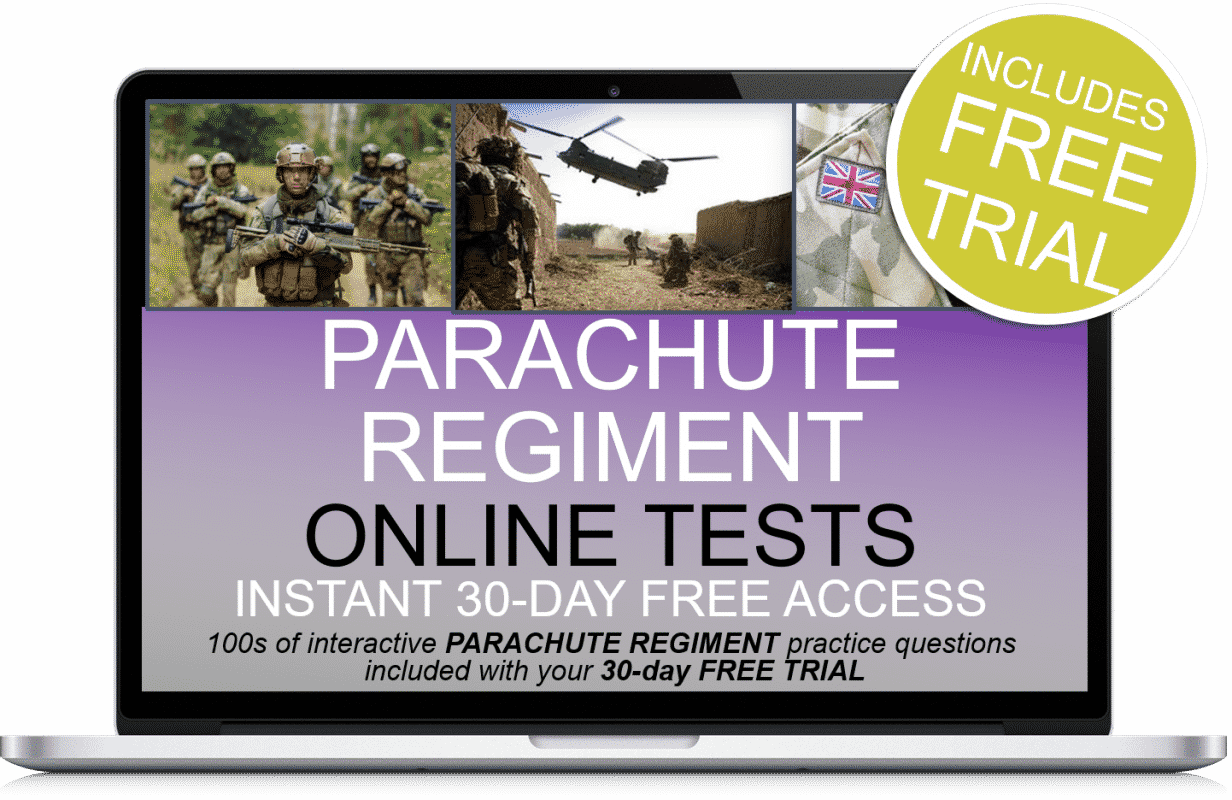 Free Online Interactive Parachute Regiment Practice Tests