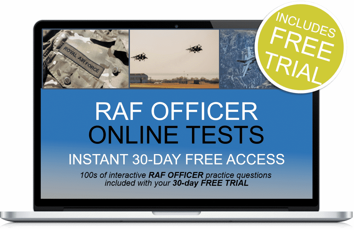 Free Online Interactive RAF Officer Practice Tests