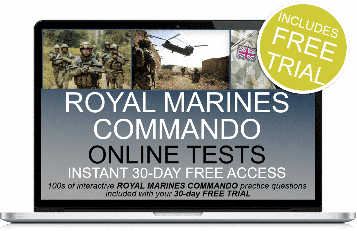 Free Online Interactive Royal Marines Commando Practice Tests