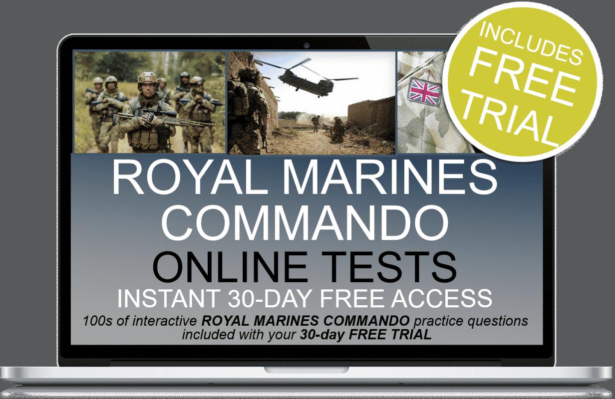 Free Online Interactive Royal Marines Commando Practice Tests