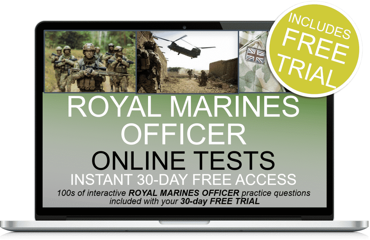 Free Online Interactive Royal Marines Officer Practice Tests