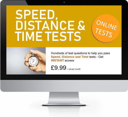 Online Interactive Speed Distance and Time Practice Tests