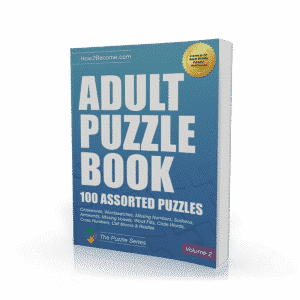 Adult Puzzle Book Volume 2 Workbook