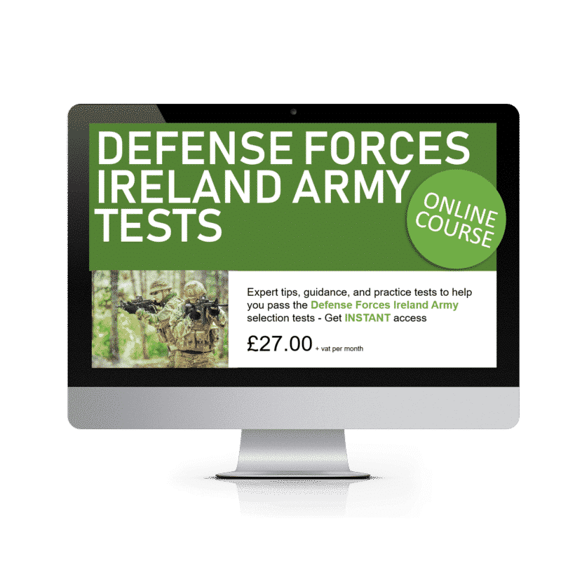 Defense Forces Ireland Army Tests Online Course
