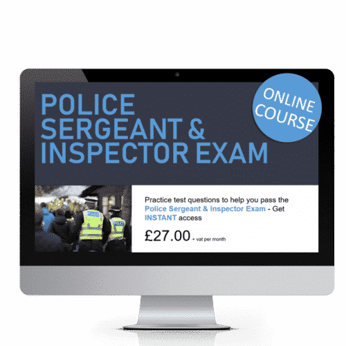 Police Sergeant and Inspector Exam Online Course
