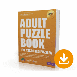 Adult Puzzle Book Volume 3 Download