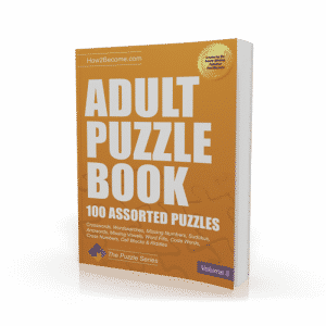 Adult Puzzle Book Volume 3 Workbook