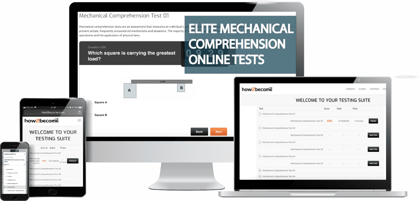 Elite Online Mechanical Comprehension Practice Questions and Answers Bundle
