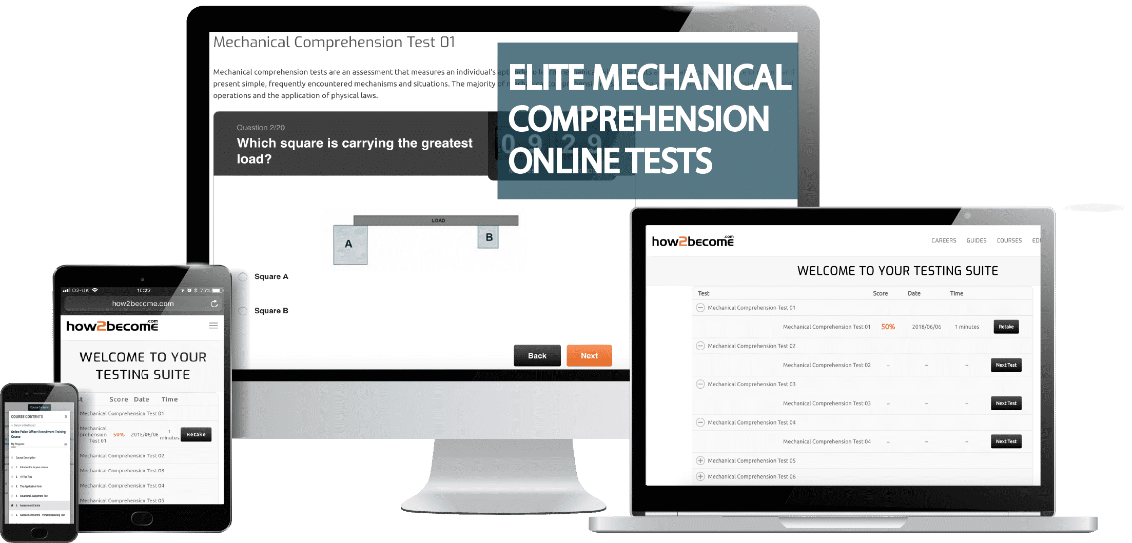 Elite Online Mechanical Comprehension Practice Questions and Answers